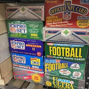 Incredible Football Cards Storage Find Vintage Sealed NFL Wax Packs Card Lot $12.99