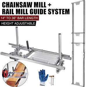 14 36 Chainsaw Mill and Milling Rail System Aluminum Rail Mill Guide System