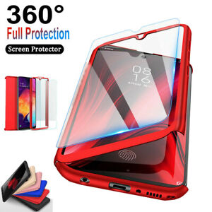 For Samsung Galaxy S9 S7 S8 S10 Plus 360° Full Body Hard Case Screen Protector