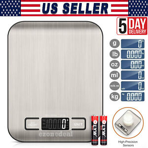 Digital Scale Kitchen LCD Food Stainless Steel Food Coffee