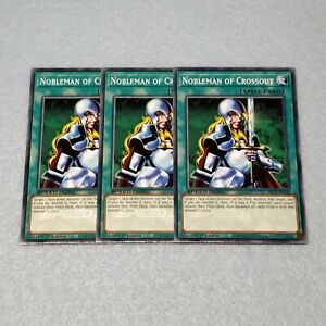 3x Yugioh Nobleman of Crossout 1st Edition Common Card NM SBCB Speed Duel $1.99