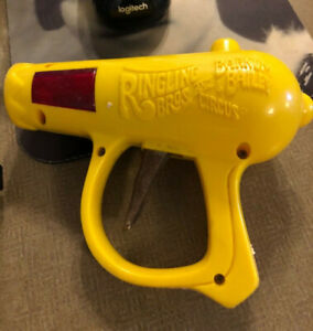 Original Ringling Brothers Barnum Bailey Circus Red Toy Ray Gun 1950 60s Vtg $20.00