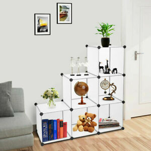 6 Cube Closet DIY Storage Organizer Adjustable Modular Ornaments Shelf Cabinet $32.20