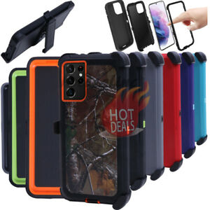 For Samsung Galaxy S21 S21 Plus S21 Ultra Rugged Shockproof With Belt Clip Case