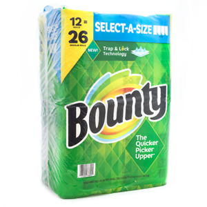 Bounty Select A Size Paper Towels White 108 sheets roll 12 ct. Double Rolls