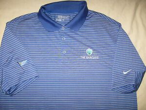 The Barclays Nike Golf Shirt Polo Men#x27;s Large PGA Tour Short Sleeve Guys Casual