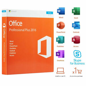 Office Professional Plus 2016 Retail DVD For Windows 1 PC License Product Key $89.99