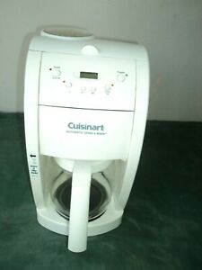 Cuisinart Coffee Maker and Grinder DGB 500 White