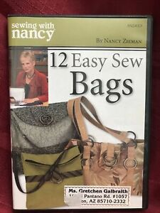 Sewing with Nancy Zieman 12 Easy Sew Bags DVD TESTED Free Shipping Crafts $19.99