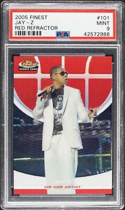 2005 Jay Z Topps Finest Red Refractor 169 Rookie RC PSA 9 $4000.00