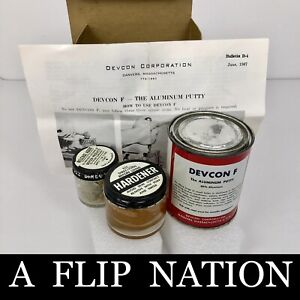 Devcon Aluminum Putty F 1 lb. Vintage Kit As Pictured NOS $49.77