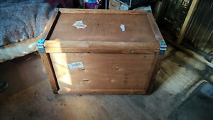 Large Wooden Box with Hinged Lid $32.00