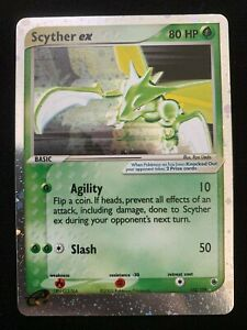 Pokemon Scyther Ex 102 109 Ruby And Sapphire Holo Card MINT SWIRL