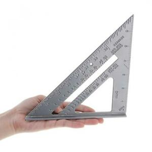 7 Inch Aluminium Alloy Metal Right Angle Triangle Ruler with 0.1 Accuracy $6.68