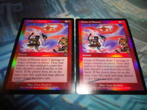MTG Magic 1X Foil Chain of Plasma EX LP Onslaught 2 Available $17.99