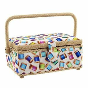 Dritz Sewing Basket Colorful Spools $31.33