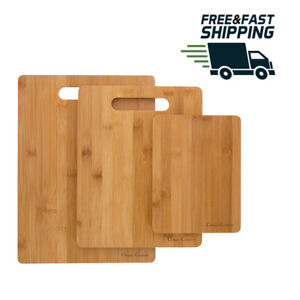 3 Piece Bamboo Cutting Board Set Food Prep by Classic Cuisine