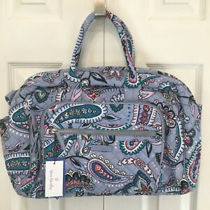 NWT Vera Bradley Compact Weekender Travel Bag Makani Paisley NEW Gym Carry On $52.99
