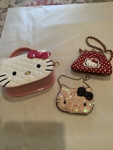 Lot Of 3 Hello Kitty Small Purses Preowned Adorable Vintage