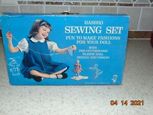 Vintage Hasbro Sewing Set Doll Patterns in Box $14.95
