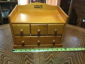 HTF quot;SEWING WITH NANCYquot; ALL WOOD STORAGE amp; SUPPLY CABINET Nancy Zieman $39.00