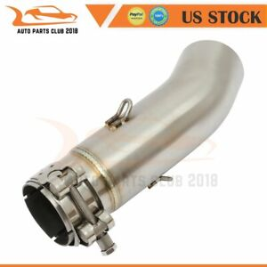 1Pcs 51MM Mid Link Pipe Exhaust Modified Stainless Motorcycle For Suzuki $43.39