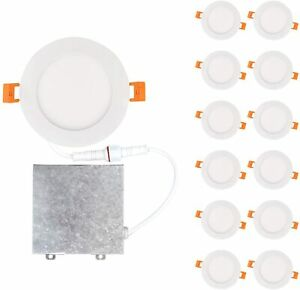 OSTWIN 12 Pack Recessed Lighting 4 Inch 4 Inch 9W 2700k Warm White
