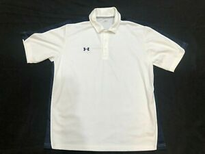 Under Armour Golf Polo White Shirt Mens Clothes Size XL EUC $5.00