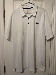 Nike Golf Polo Dry Fit Shirt Men Size Extra Large White Performance $16.99