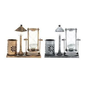 Hourglass Crafts Sand Glass Clock Pen Holder Home Decoration Collectible $12.14
