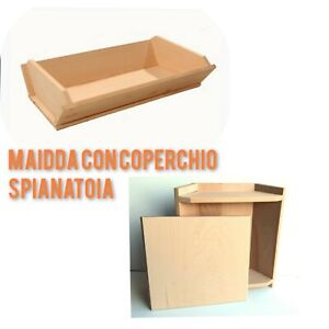 Maidda Lid Pastry Board Beech Evaporated Solid Wood 3 IN 1