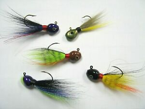 Walleye Flat Head Bucktail Jigs High Quality Made In USA Choose Size Color