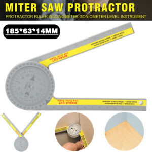 360 Degree Miter Saw Protractor High Accuracy Angle Finder Measuring Ruler Tool $9.65