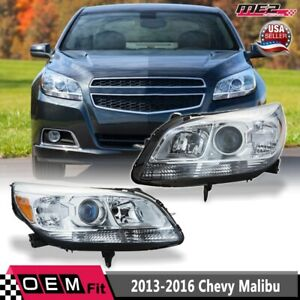 Fit 13 15 Chevy Malibu Clear Lens Chrome LeftRight Projector Headlights Pair $232.12