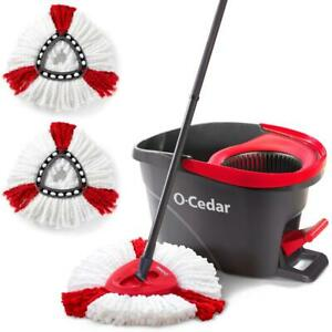 EasyWring Microfiber Spin Mop and Bucket Floor Cleaning System with 2 Extra $47.18