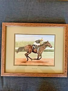 George A. Johns Horse Racing Lithograph quot;Seattle Slewquot; NMC Artist from Carlsbad $34.00