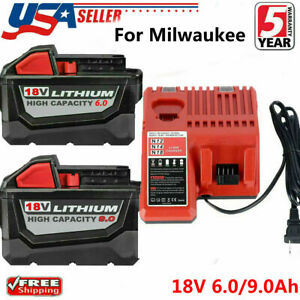 For Milwaukee M18 XC 5.0 6.0AH Extended Lithium Battery 48 11 1890 Fast Charger