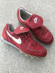 Nike Air Vintage Leather Red Baseball Cleats 80#x27;s Size 11 Bo Brett Maguire $69.99