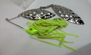 VINTAGE Strike King World#x27;s #1 Spinner Baits Chartreuse Spinnerbait Fishing Lure