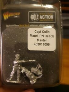 Bolt Action Captain Colin Maud RN Beach Master WWII Promo Limited Edition OOP