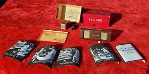 Original 1930s Tru View viewer new in box with 2 film one American Flyer train $295.00