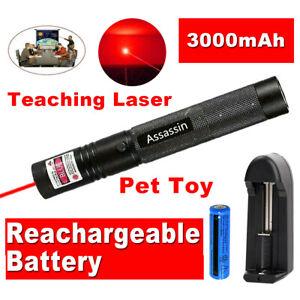 900Miles Red Beam Light Laser Pointer Rechargeable Torch LazerBattChar 1mW $9.78