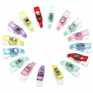 Colorful Mini Clips Plastic Wonder Sewing Holder Craft Clamps Knitting Clothing $9.61