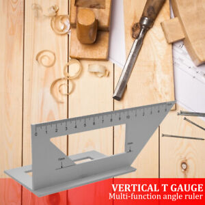 45 90 Degree Gauge Right Angle Ruler Measuring Woodworking Tool Protractor US $13.22