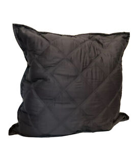 Hotel Collection Euro Pillow Sham Gray Quilted Box Design 100% Cotton $26.98