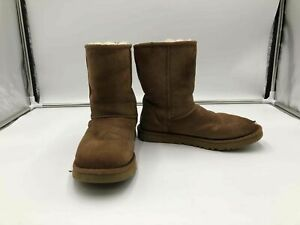Women#x27;s 8 Ugg Shearling Chestnut Used boots