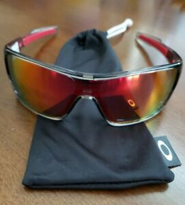 New AUTHENTIC OAKLEY Turbine Rotor Red flash mirror lens gray clear frame