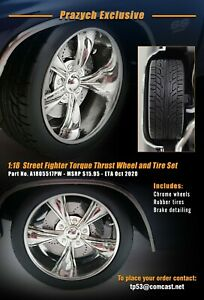 1:18 ACME STREET FIGHTER TORQUE THRUST WHEELS CHROME EXCLUSIVE IN STOCK
