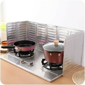 Cooking Frying Oil Splash Screen Cover Kitchen Tool Three Hinged Panel Design