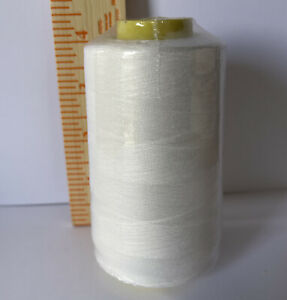 1 Spool Natural color T27 Serger Sewing Machine thread 100% Polyester 6000 YDS $3.50